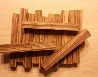 "Exotic Zebra Wood Pen Blank - 3/4"" square x 5 1/4"" By the Piece."