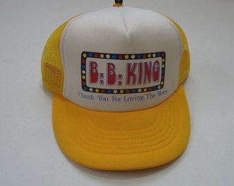 B.B. King Thank You For Loving The Blues Snapback Hat Cap Vintage