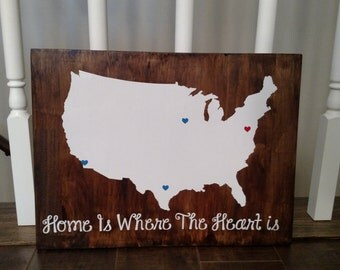 Home is Where the Heart Is - United States Map - Places Lived - Family