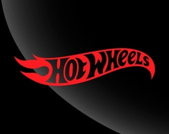 Hot Wheels Decal Sticker Single Color