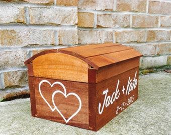Custom Wedding Card Box for Wedding / Rustic Wedding Card Holder / Custom Card Box Wood / Rustic Wedding Decor / Personalized Wedding Box