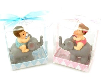 Polyresin Baby Shower Favors, 3-1/2-inch, Baby Elephant
