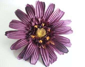 Purple Hair Flower- Plain Purple Hair Flower- Plain Purple- Hair Flower- Rockabilly Hair Flower- Rockabilly- Violet Hair Flower