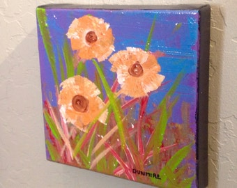 """Original acrylic painting on 8"""" x 8"""" gallery wrap canvas JUST REDUCED"""