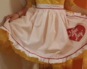 I Love Lucy Apron-Teen Size