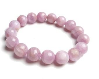 8mm Pink Kunzite Bracelet, Kunzite Beads Bracelet Womens, Pink Kunzite Jewelry Bracelet, Lilac Gemstone Bracelet,Pink Stretch Bracelet Gift