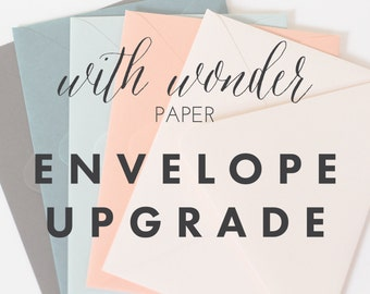 Thank You Note and Stationery Set Colored Envelope Upgrade