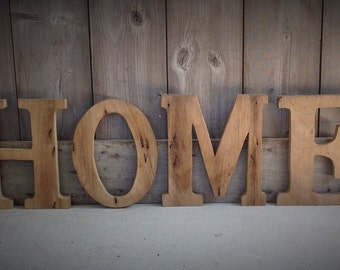 home barn wood letters measuring 10 inches tall barn wood letters rustic letters rustic decor rustic letter home sign home letters