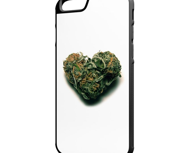 Weed Heart Marijuana Love iPhone Galaxy Note LG HTC Hybrid Rubber Protective Case