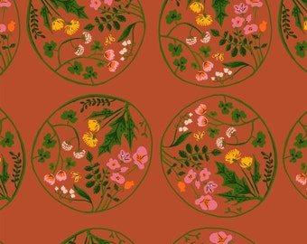 Tiger Lily - Wreaths Orange - Heather Ross - Windham (40928-6)
