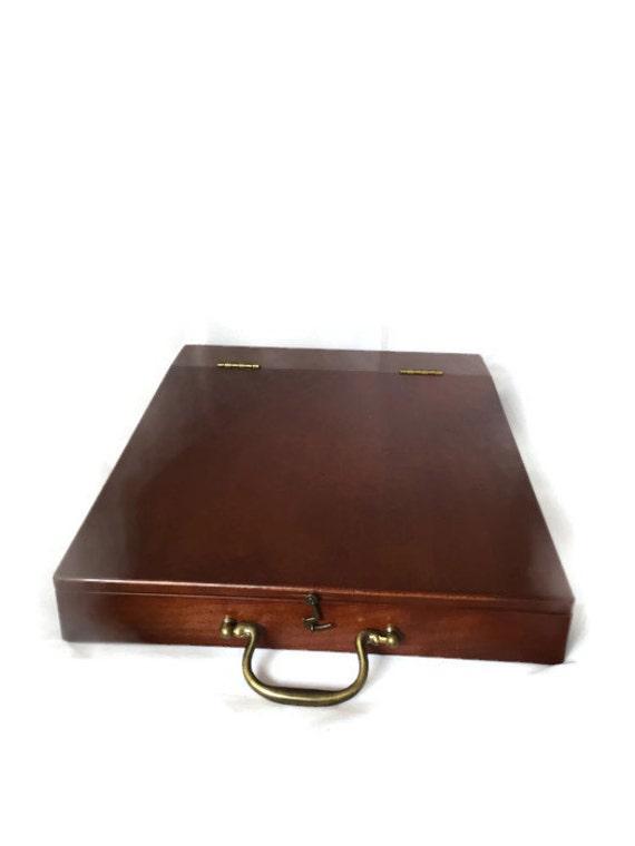 Vintage cherry wood bombay company lap desk with by derbayzvintage - Wood lap desk with storage ...