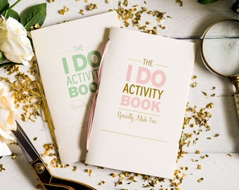 Activity book etsy i do wedding activity book 8 pages pronofoot35fo Gallery