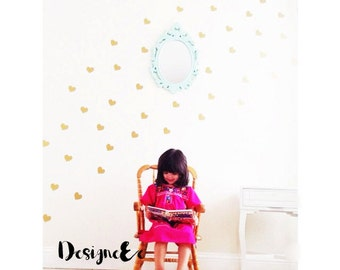 "Wall Stickers - 2"" Hearts - Set of 90"