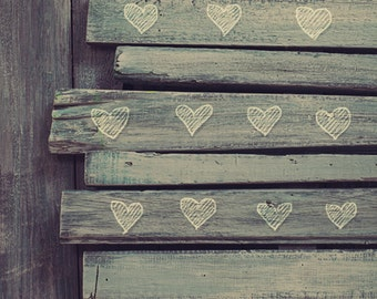 Brown Wood with hearts Photography Backdrop,Stained wood floor Backdrop, Shabby chic photo drops D4848