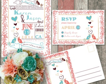 Eclectic Whimsical Invitations