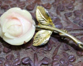 Vintage 1960's Rose gold plated Brooch