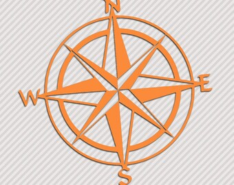 Compass Rose Vinyl Sticker Car Window Door Bumper Decal Adventure