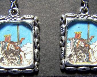 Queen of Swords Tarot Card Earrings