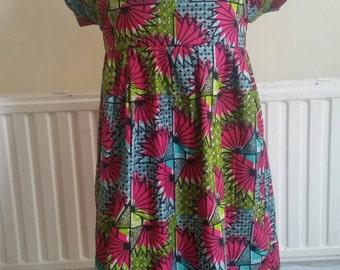 Ankara / African wax Print Little Girls summer dress and bolero