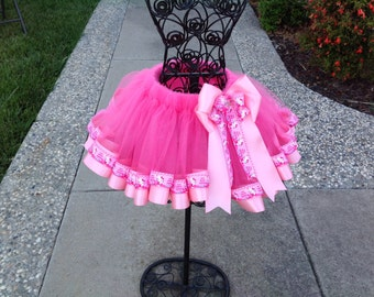 Pink Hello Kitty Sewn Ribbon Trimmed TuTu