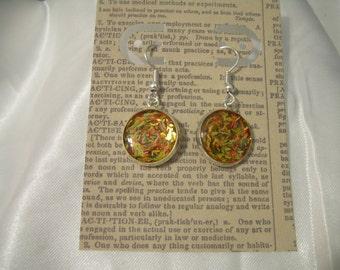 Earrings Shredded Confetti Autumn with Gift Envelope