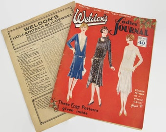 Weldons Ladies Journal magazine 1928, Ladies Journal, vintage Ladies Journal, Ladies Journal magazine, magazine 1928, free patterns