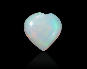 Ethiopian Welo Opal Loose Gemstone Heart Cabochon 1A Quality 4mm TGW 0.10 cts.