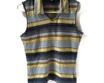90's Striped Crop Top
