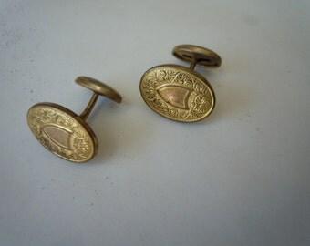 Gorgeous 1910s-1920s Gold Art Nouveau Cuff Links