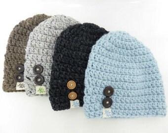 Slouchy Beanie, Winter Hat, merino Wool & Acrylic blend.