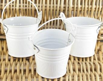 Tin Favour Pail - 2inch - White. JR07514
