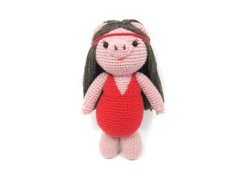 Crochet doll, Amigurumi,pig doll,funny doll,bathing costume pig,