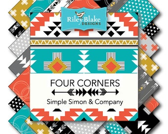 Four Corners 2.5 Inch Rolie Polie 15 pc. by Simple Simon & Co for Riley Blake Fabrics