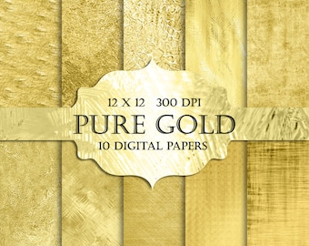 Gold Foil Digital Paper -  gold glitter, Luxury, Fashion, Digital Paper, gold textures, gold backgrounds, gold sparkle for invitations cards