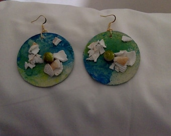 Crushed Shell Earrings