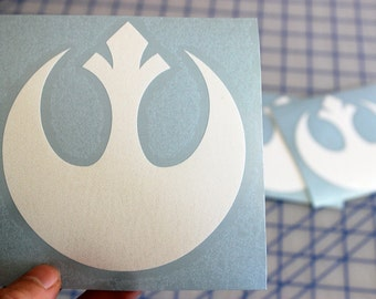 Star Wars Rebel Alliance decal.. Rebel Alliance sticker.. Rebel Alliance vinyl decal.. Rebel Alliance window sticker.. Rebel Alliance decal