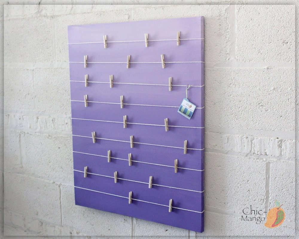 bulletin board memo holder purple ombre kids room decor