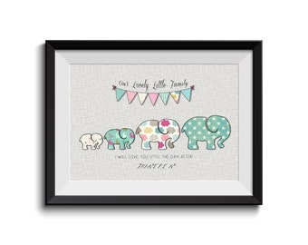 I will love you until the day after tomorrow,INSTANT DOWNLOAD,Family Motivation Quote,Baby Elephant, Nursery Art, Children Room, Shabby Chic
