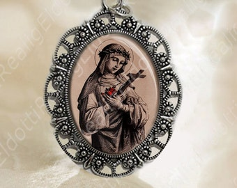 St Rose of Lima Medal Catholic Religious Jewelry for Necklace