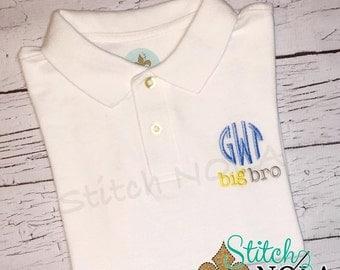 Big Bro Monogrammed Collared Shirt