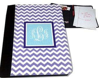 Monogrammed Notepad Cover Chevron Personalized Notepad Legal Size Notepad Holder Personalized Legal Pad Portfolio Cover