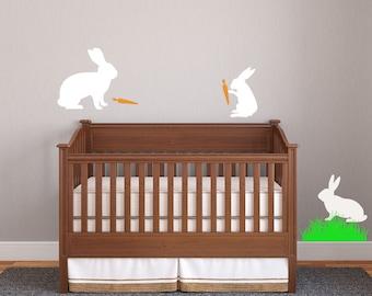Bunnies Rabbit wall decal nursery Kids