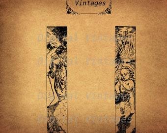 Vintage Old New Year Frame Border Illustration Antique Digital Image Download Printable Clip Art  Prints 300dpi jpg png svg