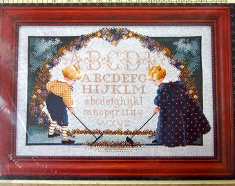 PATTERN: Butternut Road Sampler Vintage Counted Cross Stitch Chart Pattern (#174)