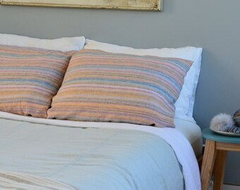 linen blanket / bedspread lightweight  bedding made in U.S.A. made in Maine