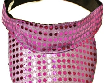 Metallic Sequin Fabric Sun Visor PURPLE MARDIGRAS