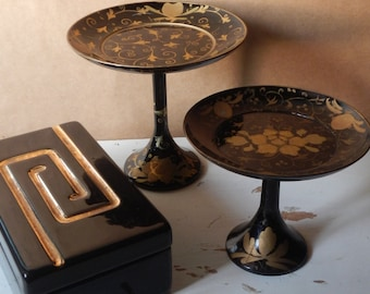 Trinket Box and Lacquer Jewelry Stands!