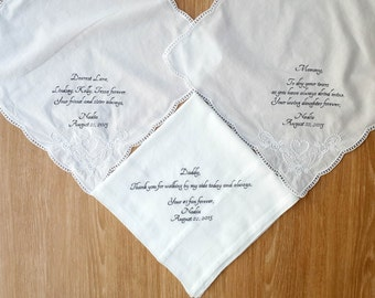 Items Similar To Personalized Wedding Handkerchiefs Women 39 S And Men 39 S