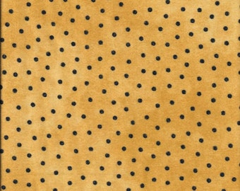 45'' Maywood Studios Gold Polka Dot Woolies Flannel MASF-18506-S by the Yard