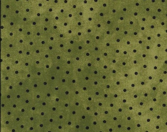 45'' Maywood Studios Green Polka Dots Woolies Flannel MASF 18506-G by the Yard